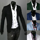 Stylish Men Casual Slim Fit One Button Suit Blazer Coat Jacket Tops Popular