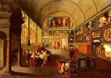 Francken Frans The Interior Of A Picture Gallery A4 Print