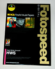 Fotospeed Fine Art Inkjet Paper  EG High White Smooth 315gsm  A4  20 Sheets