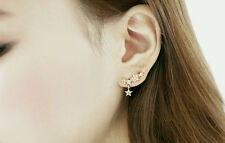 1Pair Elegant Crystal Rhinestone Ear Stud Earrings Fashion Women Lady Jewelry