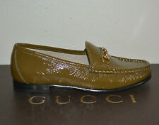 NIB GUCCI $595 WOMENS HORSEBIT LEATHER FLATS LOAFERS SHOES EU 38.5 US 8.5 ITALY