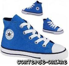 BABY Kids Toddler Boy Girl CONVERSE All Star BLUE HI TOP Trainers Boot SIZE UK 4