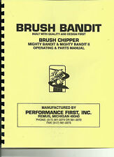 Bandit Brush Chipper Mighty Bandit & Mighty Bandit 2 Owner/Parts Manual