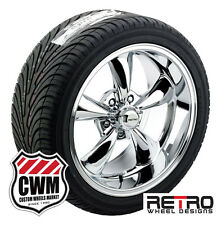 "18x8""/18x9"" inch Retro Wheel Designs Chrome Rims Tires for Chevy Corvette 68-82"