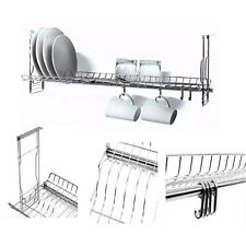 Stainless Dish Drying Sink Cabinet Fixing Rack Ladle Cup Shelf Sink Kitchen 23""