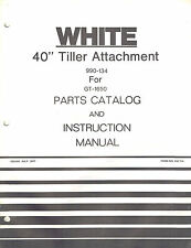 "WHITE 40"" TILLER ATTACHMENT OPERATOR'S MANUAL X"