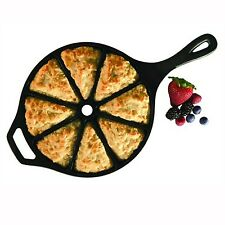 Cast Iron Wedge Pan Seasoned Cornbread Bread Pizza Pie Wedges Kitchen Camping
