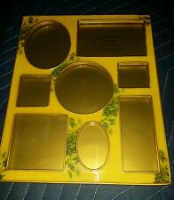 Bucklers 5th Avenue Metal Enamel Yellow Floral Collage Picture Frame Vintage