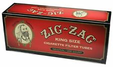 2x Boxes 400 Count ( Zig Zag Full Flavor Red King Size ) Cigarette Tubes