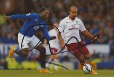 ASTON VILLA: GABRIEL AGBONLAHOR SIGNED 6x4 ACTION PHOTO+COA