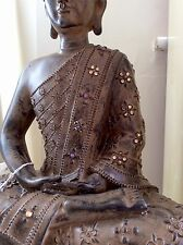 Large Beautifully Detailed Buddhas Statue. Adorned In Swarovski Elements
