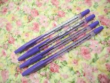 4pcs PILOT BP-S 0.7mm fine ball point pen /with cap Purple ink(Japan)