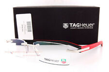 Brand New TAG Heuer Eyeglass Frames TRENDS RUBBER 8109 005 RED/BLACK Men