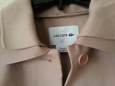 NEW $870 Lacoste Women's Coat Nude Blush Pink Fashion Show Collection Cotton