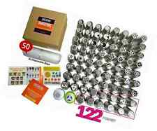 Russian Piping Tips Set 122pcs 70 Cake Icing 304 Stainless Nozzles The ONLY Comp