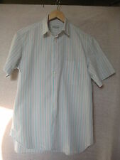 Cacharel white/grey/green striped short sleeved cotton shirt, size SM/2