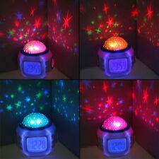 Projecteur enfant étoile LED réveil Alarm LCD lumineuse sons nature Thermomètre