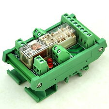 DIN Rail Mount Safety Relay Module, 48V AC/DC, TYCO SR6B4048, 4PST-NO DPST-NC.