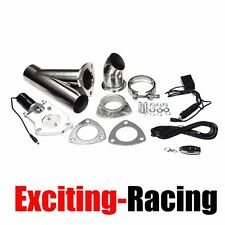 "3"" Inch 76mm Electric Exhaust Muffler Valve Cutout System Dump Wireless Remote"