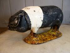Antique cast iron pig doorstop