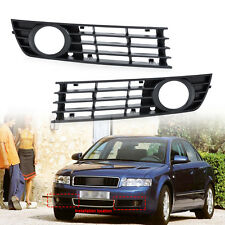 2 PCS LOW BUMPER FOG LIGHT LAMP GRILLE GRILL COVER FOR AUDI A4 B6 2002-2005