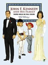 John F. Kennedy and His Family Paper Dolls in Full Color - Tom Tierney NEW/UNCUT