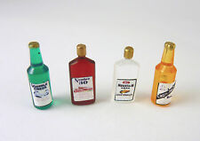 Dollhouse Miniature Set of 4 Vintage Liquor Bottles, FA40314