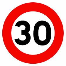 ROAD SIGNS (30 MPH SPEED LIMIT) -  NOVELTY FRIDGE MAGNET - BRAND NEW