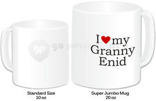 Personalised Jumbo Giant 20oz Mug- I Love My Granny Design- Any Nam