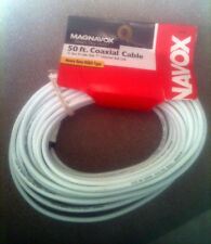 """Magnavox M61210 RG6 Coaxial Cable Connects Video Components """"F"""" Connectors 50ft"""