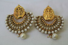 Indian Bollywood Traditional Rameela Temple Pearl Earring Jewellery  120