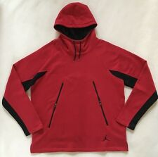 NIKE Air Jordan Mens Hoodie XXL 2XL Fleece Lined Red Black NWT $80 813032 687