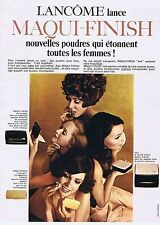 Publicité Advertising 016 1969 Lancôme le Maqui-Finish