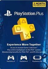 3 Months Playstation Plus Membership Subscription Code - Sony PS3/PS4/Vita