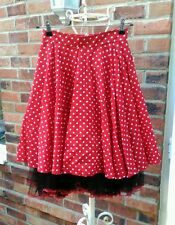 Phaze red white black polka dot spotty full skirt 8 10 rockabilly pinup retro