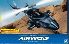 AOSHIMA 1/48 Airwolf Helicopter from 1980s TV Show w/Optional Clear Bod AOS5590