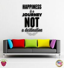 Wall Sticker Quotes Words Happiness Is A Journey Not A Destination z1469
