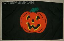 3'x5' Happy Halloween Pumpkin Flag Outdoor Jack O' Lantern Scary Spooky Huge 3X5