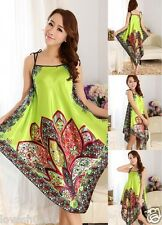 Pyjama Night dress Floral Sleepwear Robe Oriental Kaftan Nightwear Paisley women