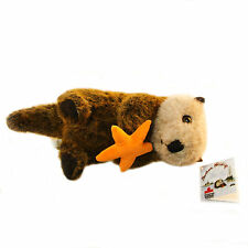 "Stuffed Animal House Sea Otter 14"" Starfish Northern Wildlife Realistic Toy NWT"
