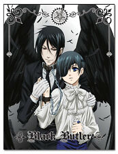 "BLACK BUTLER CIEL & SEBASTIAN THROW BLANKET 46""X60'"