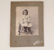 Antique Cabinet Card Photo Little Falls NY Little Girl Bucklin Vintage