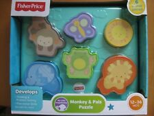 NEW IN PACKAGE FISHER-PRICE MONKEY & PALS PUZZLE DEVELOPMENTAL 12-36 MONTHS