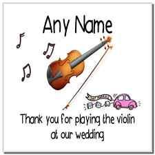 Gracias por tocar el violin en nuestra boda personalizado Coaster