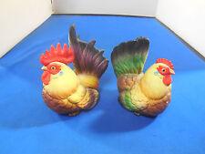 Vintage Pair ARTMARK Chicken / Rooster / Hen Salt & Pepper Shakers