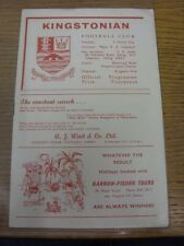 11/10/1965 Kingstonian v fulham [london senior cup]. bobfrankandelvis la selle