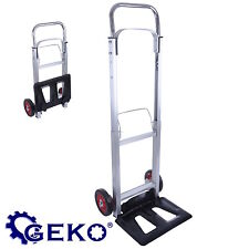 BRAND NEW GEKO FOLDING FOLDABLE ALUMINIUM HAND TROLLEY 90KG BARROW SACK