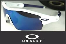 New Oakley Radar Path Sunglasses Polished White / Blue Ice Iridium USA Authentic