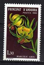 Andorra ( French Post ) : 1980 Flora ( Marcòlogic Groc ) New ( MNH )