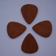 True Custom Shop® 4 PACK MAHOGANY WOOD GUITAR PICKS PIC GREAT NATURAL SOUND !